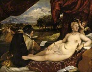 Venus and Cupid with a Lute Player