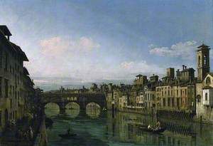 The Arno in Florence with the Ponte Vecchio
