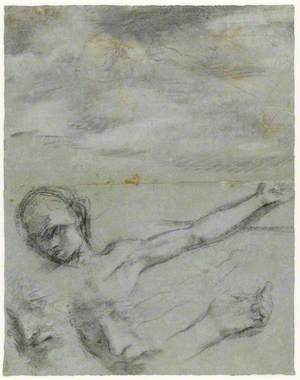 Studies for the Head, Left Arm and Body of Christ – Study for a Figure in the Perugia 'Deposition'