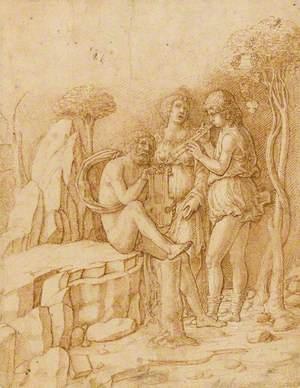 Three Musicians in a Landscape