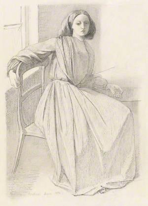 Elizabeth Siddal Seated at a Window
