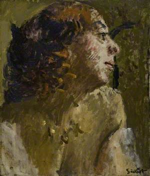 Woman with Ringlets