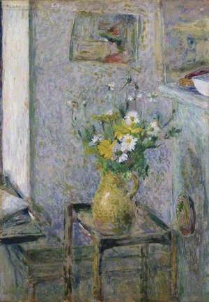 Stoneware Vase and Flowers