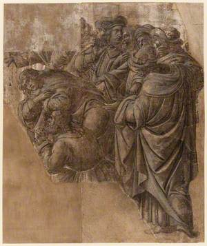 Two Fragments of a Cartoon of 'The Adoration of the Magi'