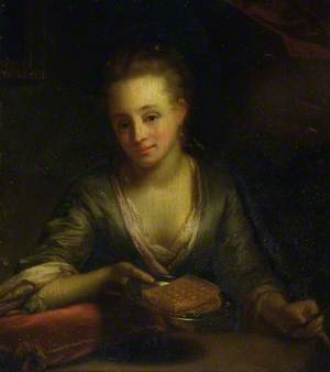 A Lady Holding a Plate