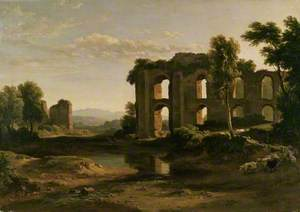 Landscape near Tivoli, with Part of the Claudian Aqueduct
