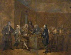 A Prisoner of the Fleet Being Examined before a Committee of the House of Commons
