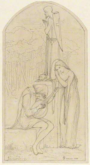 Illustration to Coleridge's Poem 'Genevieve'