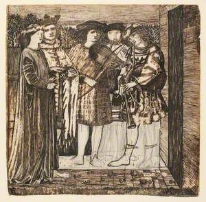Design for the Decoration of the Red House – The Wedding Procession of Sir Degrevaunt