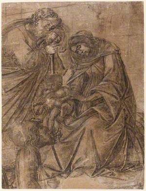 Fragment of a Cartoon of the 'Adoration of the Magi'