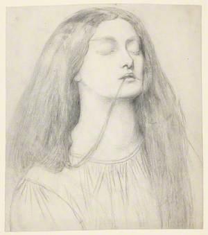 Elizabeth Siddal – Study for Delia in 'The Return of Tibullus to Delia'