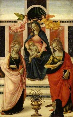 Virgin and Child Enthroned between Saint Ursula and Saint Catherine