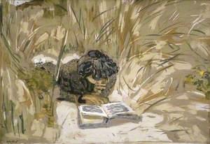 Woman Reading in the Reeds, Saint-Jacut-de-la-mer