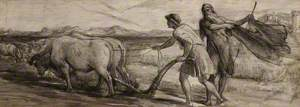 Ploughing: Study for 'The Mantle of Elijah'