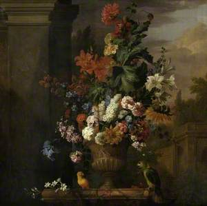 A Stone Vase of Flowers
