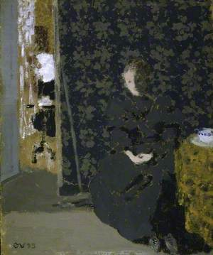 The Artist's Sister with a Cup of Coffee