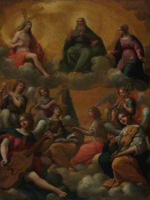 The Trinity with the Virgin Mary and Musician Angels