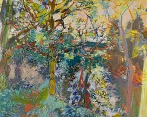 MOUTHIER: Abstract Landscape with Trees