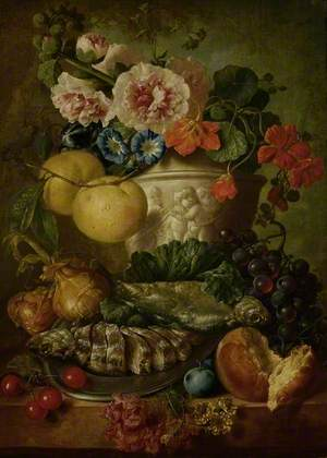 Still Life with Fruit, Flowers and Fish