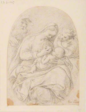Holy Family with an Angel