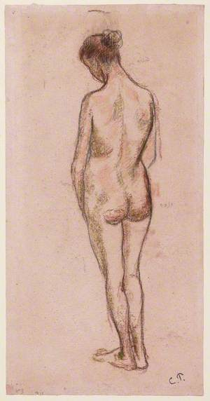 Full-Length Standing Nude of a Woman, from Behind
