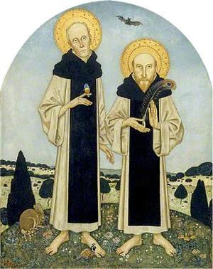 Charles Ricketts (1866–1931), and Charles Shannon (1863–1937), as Medieval Saints