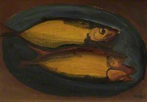 Kippers on a Blue Plate