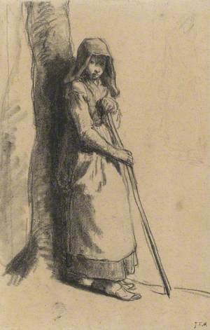 Study for 'Bergère au repos' (Resting Shepherdess)