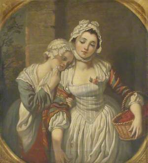 Young Girl and Her Maid