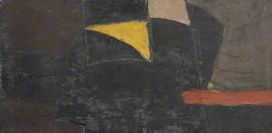 Untitled Abstract: Black and Brown