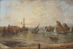 Herring Fishing Boats Leaving Port