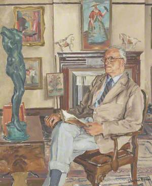 Hugh Walpole (1884–1941), in His Study