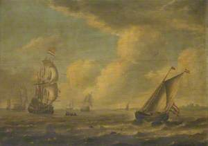 Ships off the Dutch Coast