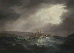 Paddle Steamer 'Whitehaven' in a Storm