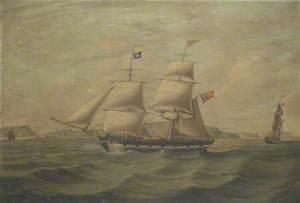 Brigantine 'Edwin', off Harrington Harbour