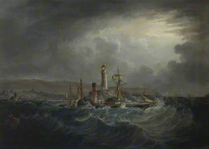 Steamer 'Whitehaven' in a Storm off Whitehaven