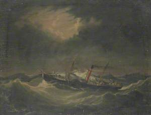 Ship 'Earl of Lonsdale' in a Storm off Whitehaven