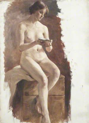 Study of a Nude Female with a Shell in Her Hand