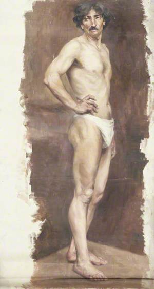 Study of a Semi-Nude Male