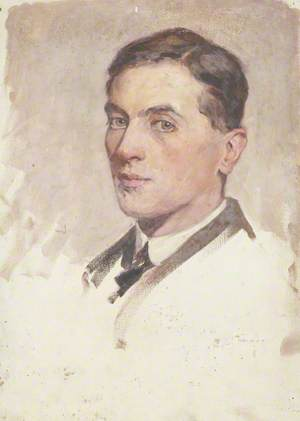 Portrait of a Young Man with Short Dark Hair