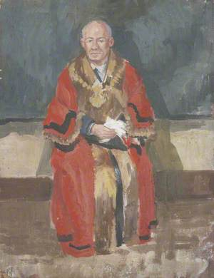 Alderman Knipe in Mayoral Robes