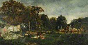 A Glade in Cadzow Forest; Clothes Drying
