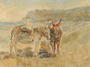 Donkeys on the Shore