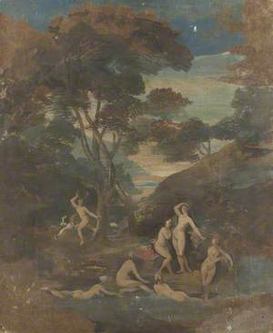 Classical Figures in a Wooded Landscape