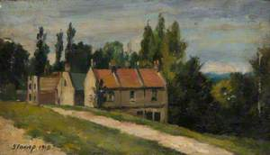 Cottages near the 'Bull and Bush', July