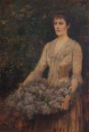 A Load of Lilac (Portrait of a Lady)