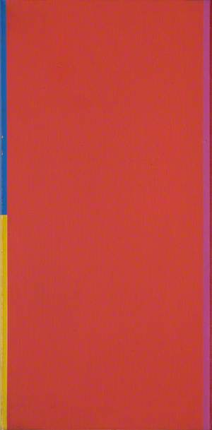 Red and Blue Abstract with a Yellow Square*