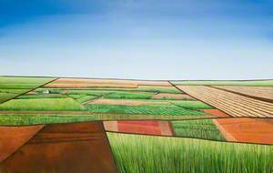 Rural Landscape with Flat Horizon