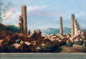 View of the Remains of the Temple (supposed to be of Castor and Pollux) in Agrigentum