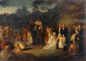 The Cession of Matavai (in Tahiti) to Captain James Wilson